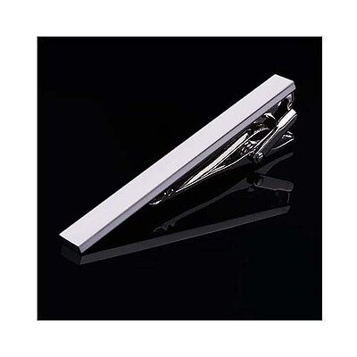 Simple Style 4.5 cm Mens Silver Stainless Steel Skinny Slim Tie Clip Clasp Bar
