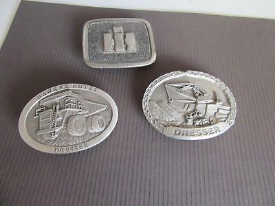 3 Mining Related Belt Buckles Lot 9