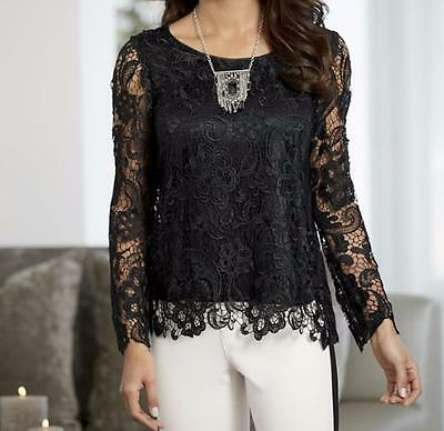 Mother of Bride Women's Wedding cocktail evening party Blouse LaceTop plus 3X 4X