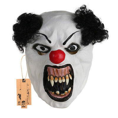 New Latex Halloween Mask Laugh Clown Face Fancy Party Costume Scary Dress Props