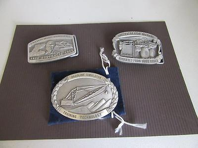 3 Mining Related Belt Buckles Lot 11