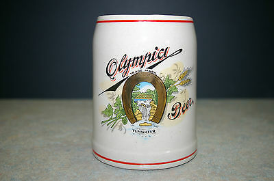 """Vintage Original 'olympia Tumwater' 4.75"""" Tall Beer Stein Lot 2 Of 2"""