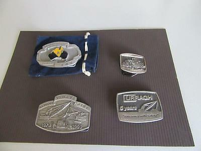 4 Mining Related Belt Buckles Lot 12