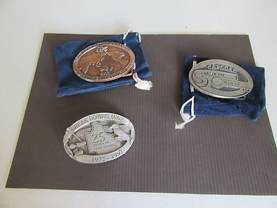 3 Mining Related Belt Buckles Lot 15