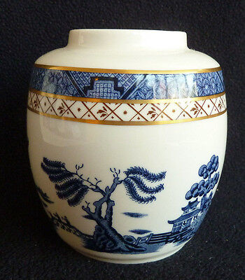 Booths Real Old Willow Blue & White China 10.5 cm Vase / Jar VGC