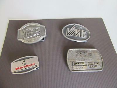 4 Mining Related Belt Buckles Lot 18