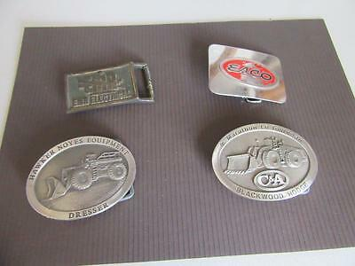 4 Mining Related Belt Buckles Lot 19