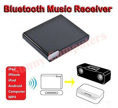 New Bluetooth A2DP Music Receiver Adapter for iPod iPhone 30-Pin Dock Speaker AU