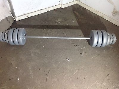 olympic bar and weights ( York Barbell ) Pickup Only