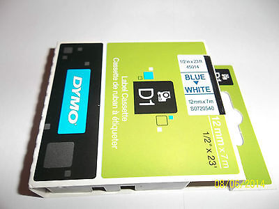 Genuine Dymo D1 Label Tape 12mm x 7m, 24mm x7m 19mm x 7 all colours all sizes