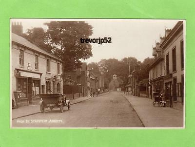 High Street Stanstead Abbotts Post Office Motor car Nr Ware RP pc Ref A736