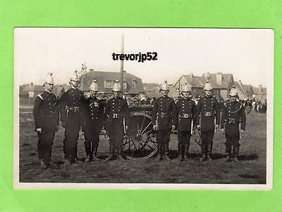 Fireman Fire Brigade Nevells Road  Letchworth Garden City unused RP pc Ref A680