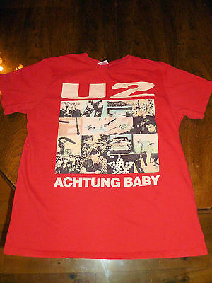 U2 Achtung Baby Album Cover T-Shirt Size Medium Red