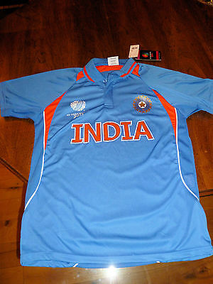 New 2011 ICC Cricket World Cup India Jersey Shirt Large