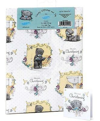 "Me To You Tiny Tatty Teddy ""CHRISTENING"" Gift Wrap Sheets And Tags x 2"
