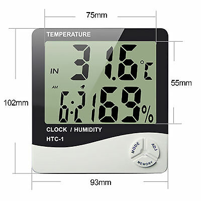Digital LCD Humidity Hygrometer Temperature Thermometer Indoor and Outdoor New