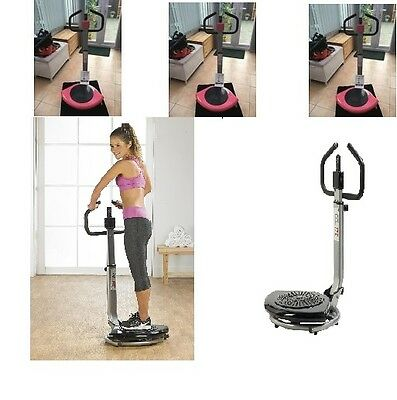Power Slimmer Vibration Twist Plate Exercise Home Machine Massage Fitness Pink
