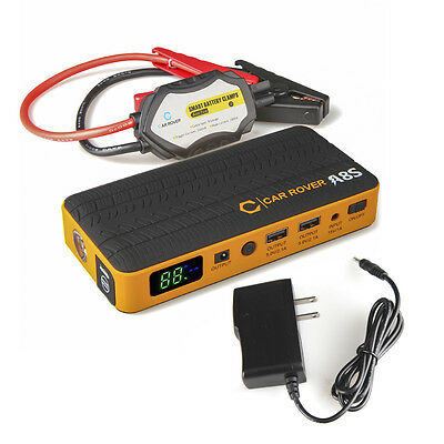 CA POST 14000mAh 800A Peak Car Jump Starter Power Bank+Smart Clips 60C Discharge