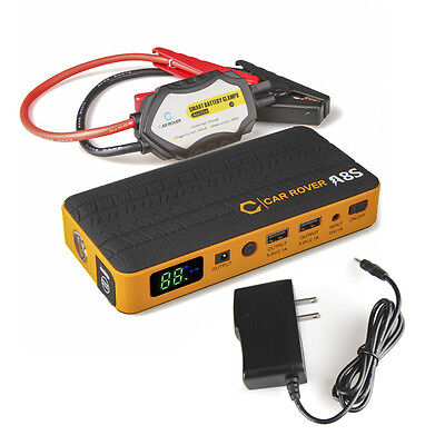 Multi-functional 14000mAh 800A Peak Car Jump Starter Power Bank with Smart Clips