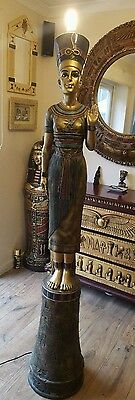 Egyptian Lamp Queen Nefertiti Floor Lamp Light 6 Feet Tall Figure Sculpture