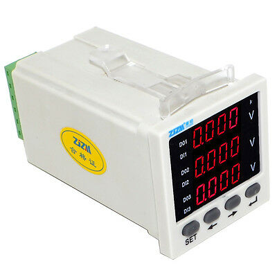 Intelligent 3P Three-phase Digital Voltmeter AC Voltage Monitor Meter 48*48mm