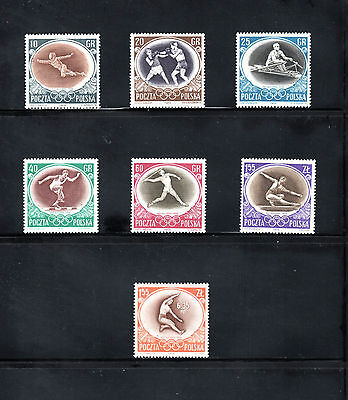 Poland 1956 Melbourne Olympic Games SG 989/95 MUH