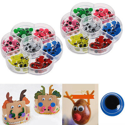 210pcs 8mm 10mm Googly Wiggly Eyes Googly Eye Craft Embellishments Mixed Colors