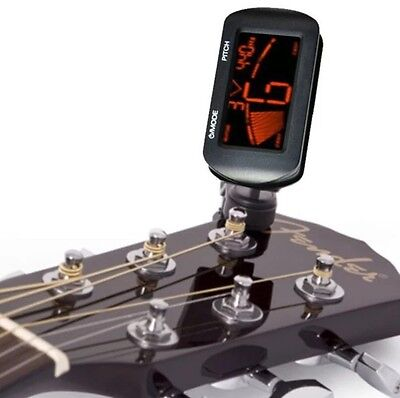 Electric Acoustic Guitar Tuner Digital LCD Clip On Chromatic Guitar