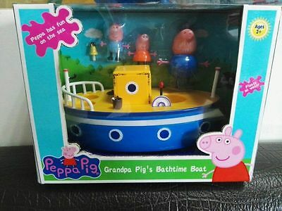Peppa Pig Grandpa Pigs Boat Playset Toy With 3 Figures Kids Baby Gift
