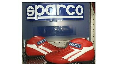 Scarpe Auto Speedway Pelle  41 Rosse Omologate Fia Racing Boots Size 41 Leather