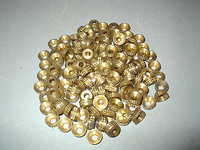 154 - Turned Patterned Brass Cup Washers.