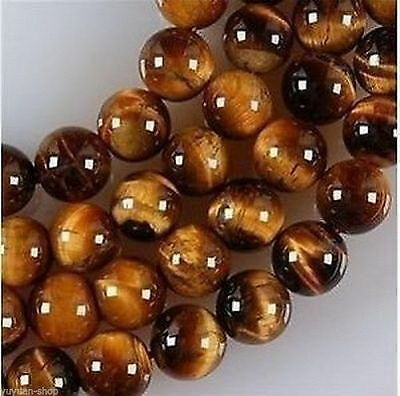6mm-18mm African Roar Tiger's Eye Round Loose Beads 15 Inch