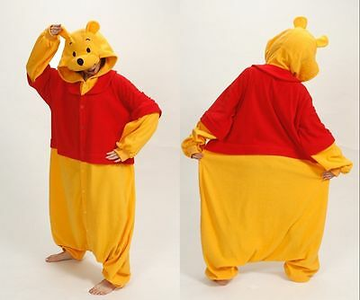 Anime Cosplay Pyjama Costume Adult Onesie11 Fancy Dress  Winnie the Pooh UK Sell