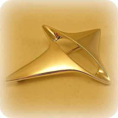Georg Jensen #339 Sterling Silver Abstract Star Brooch