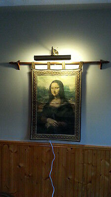 Classic Mona Lisa Tapestry with Lighting Fixture