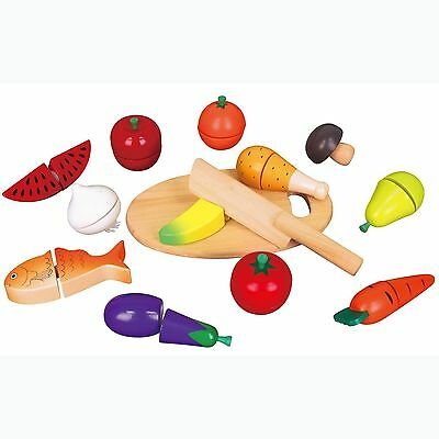 Viga Wooden Cutting Food -  Pretend Fruit & Vegetables Childrens Wood Set