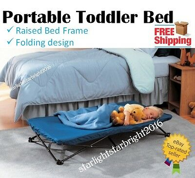 Portable Kids Bed Foldable Camp Cot Stretcher Childrens Baby Sleepover Infant