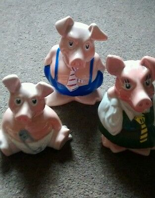 3 natwest pigs 2 with original stoppers