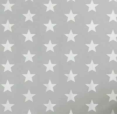 GLTC Grey & White Star Wipe-Clean Wallpaper Children's Bedroom Kids Playroom