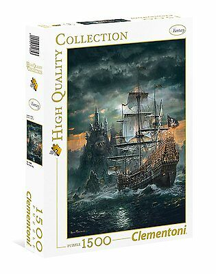 Clementoni 31682 - Puzzle 1500 Hqc The Pirate Ship