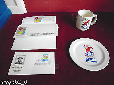 Scout/ Scouting Rare Collectibles 1970's - Xv World Jamboree + Stamp + Letter