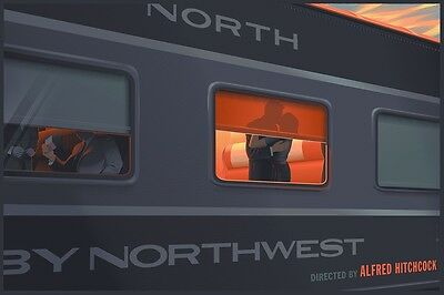 Laurent Durieux - North by North West limited edition screen print SIGNED!