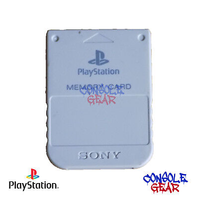 Playstation - PS1 Genuine Official Memory Card - Grey