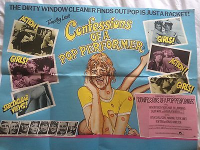 CONFESSIONS OF A POP PERFORMER - British Quad Poster - UK - Robin Askwith