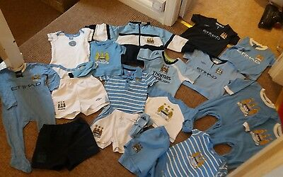 huge bundle baby boys manchester city clothes 0-2 years 0-3 9-12 12-18 18-24 mon