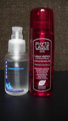 LOT de 2 PHYTO Phytolisse Sérum 50ml + PHYTO laque soie LOT de 2
