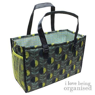 Large Lightweight Needle Sewing Crochet Accessory Bag | Knitting Tote Green Yell