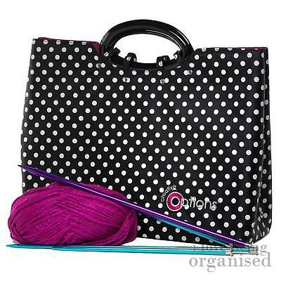 Large Deep Needle Sewing Crochet Accessory Bag | Creative Options Knitting Tote