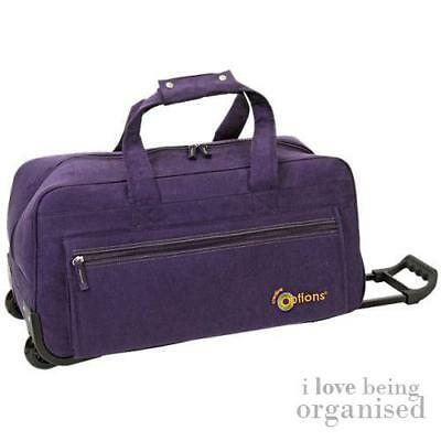 Suede Rolling Luggage Bag - Fits Cricut Expression Electronic Cutter
