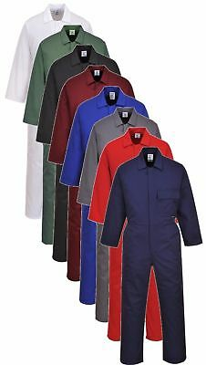 Portwest C802 mens workwear standard coverall/boilersuit all colours size S-6XL